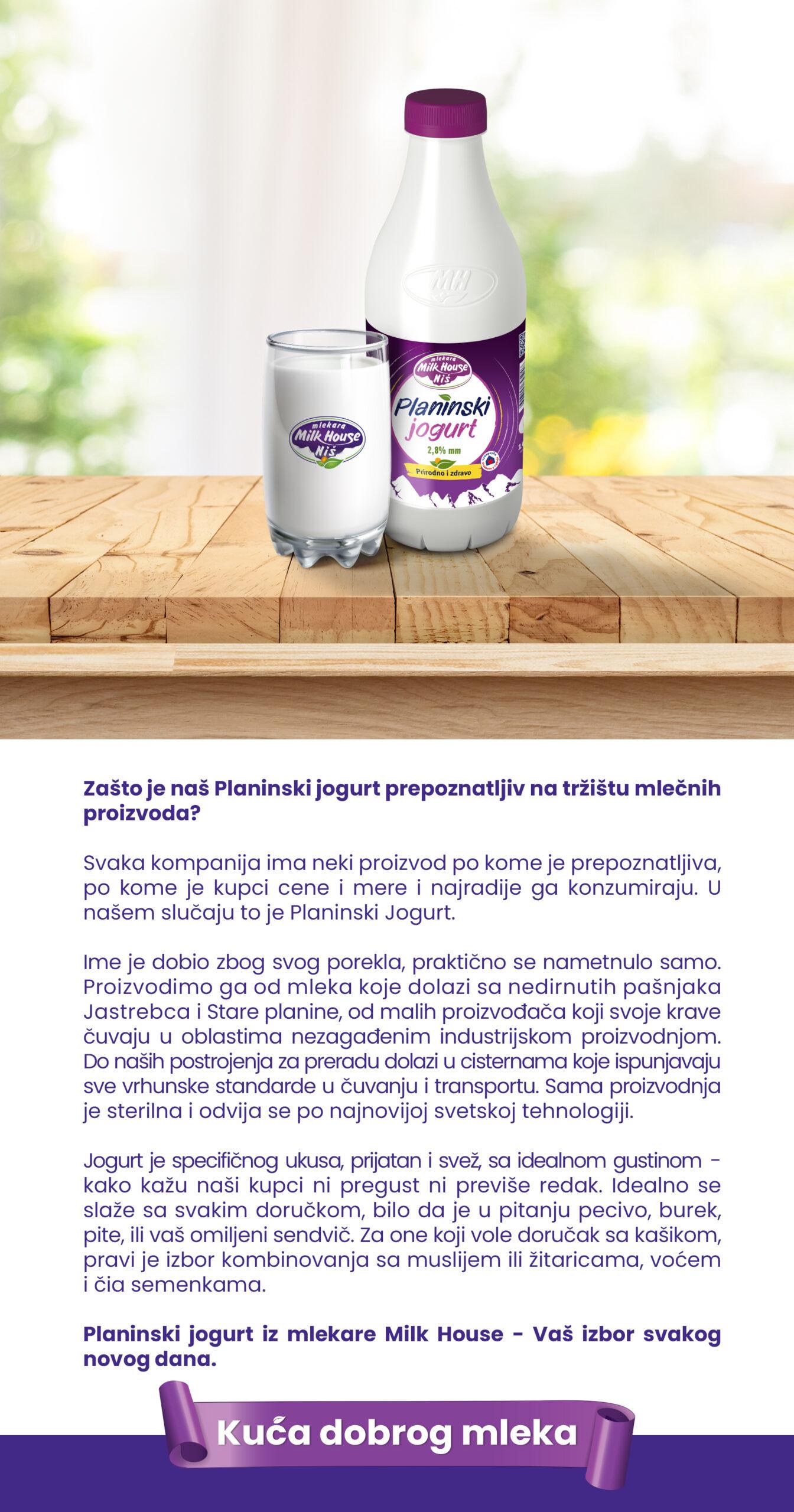 Planinski jogurt 1l